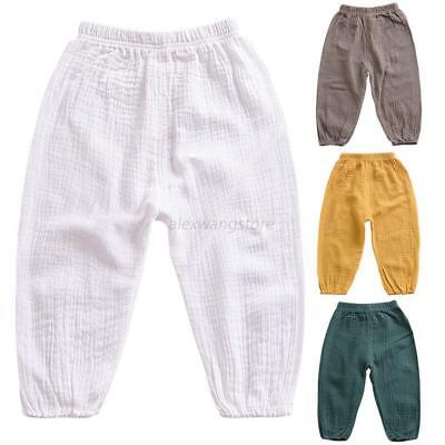Toddler Kids Baby Boy Cropped Pants Harem Pants Fashion Sport Bottom Trousers UK