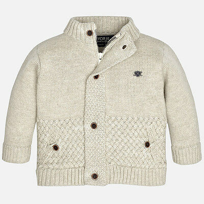 Mayoral Infant Boys Knitted Jacket in Beige ( 02345) aged 18,24,36 months