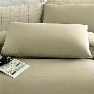 New 100% Cotton 300tc Plain Taupe Hotel & Home use Pillow slip pillowcase