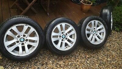 """BMW 16"""" alloy wheels and tyres"""