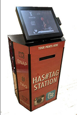 Hashtag Print Station Photo Booth