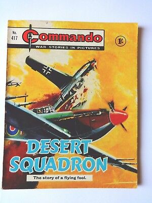 Desert Squadron, Commando For Action And Adventure, No.417,war Comic,1969