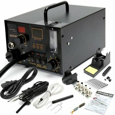 968A+ 4 in 1 Digital Soldering Iron & Hot Air Station Complete Kit EK1