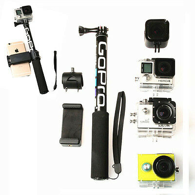 Gopro Stick Selfie Monopod Hero 5 4 3 Handheld Pole Extendable Tripod Waterproof