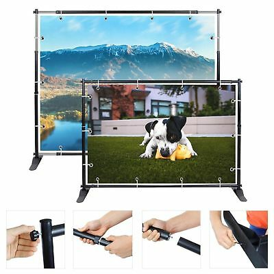 2X 8'x8' Telescopic Backdrop Stand Adjustable Banner Display Trade Show Wall EK1