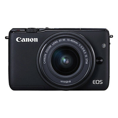 Canon EOS M10 Mirrorless Digital Camera with 15-45mm EF-M IS STM Lens Black