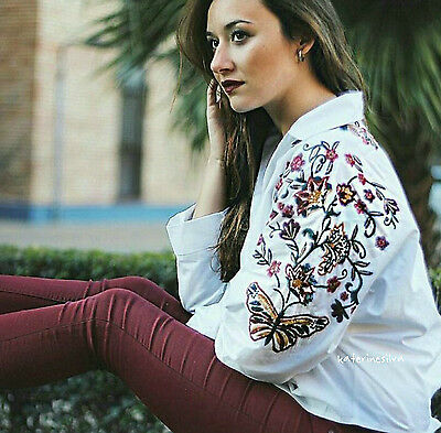 1fabff9b ZARA WOMAN SS17 White Floral Embroidered Shirt Ref:7521/392 0881/392 ...