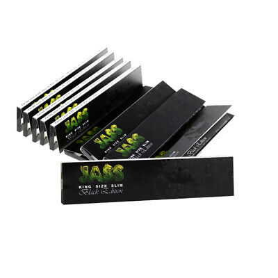 1 Box (50x) Jass Papers Black Edition King Size Slim Blättchen ultra dünn thin