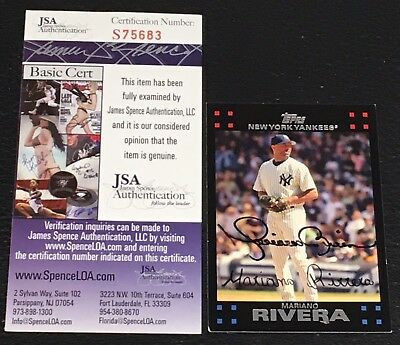 Mariano Rivera 2007 Topps Signed Autographed Card #570 Yankees Jsa Certified