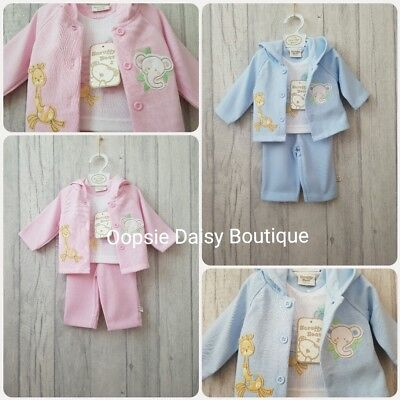 ☆ Premature Tiny Baby Lovely 3 Piece Suits Boys & Girls ☆