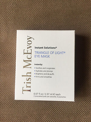 MSRP $68 Brand New 8 sets TRISH MCEVOY TRIANGLE OF LIGHT INSTANT EYE MASK