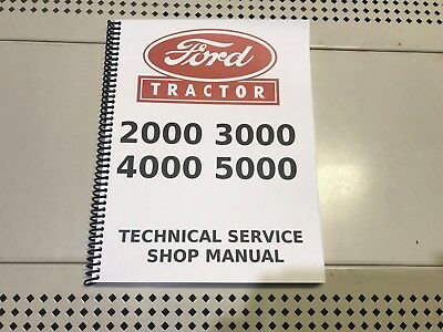 2000 3000 4000 5000 Ford Technical Service Shop Repair Manual