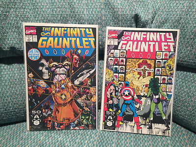 Infinity Gauntlet # 1-6 NM+ Complete Set Thanos Avengers (1991) 1 2 3 4 5 6