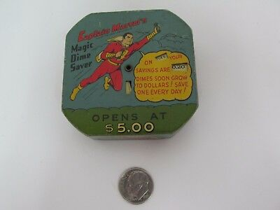 "1948 Vintage ""captain Marvel's Magic Dime Saver""  Collectable Childs Toy/bank"