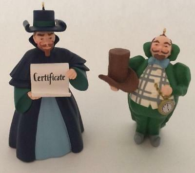 1997 Munchkinland Mayor And Coroner Hallmark Ornament The Wizard Of Oz