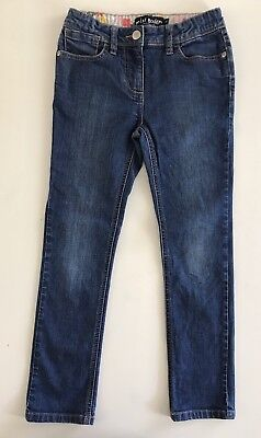 Mini Boden Girls 8 Y Skinny Blue Jeans Stretch Adjustable Waist EUC