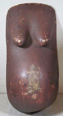 Vintage Hand Carved Makonde Pregnant Belly Fertility Body Mask Tanzania Africa