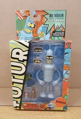 "Futurama 6"" Bender Figure - NEW with Slight damage box"