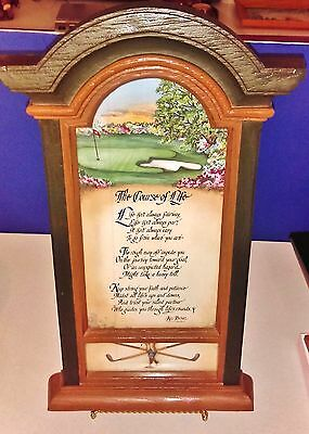 "Golf Lovers~""The Course of Life"" by Ken Brown~Wall Hanging"
