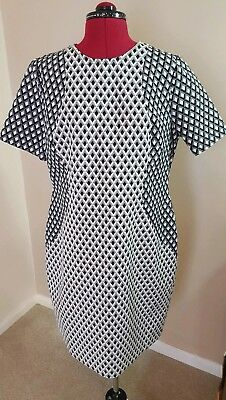 fa266c498af Mary Portas House of Fraser Ladies Shift Dress Black and White Size 18 BNWT
