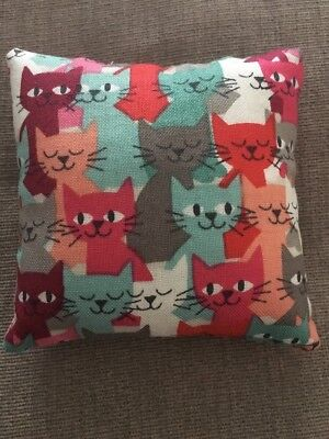 Handmade square mini pillow cat toy with catnip gift pet Cotton Makower