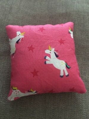 Handmade square mini pillow cat toy with catnip gift pet Cotton Unicorn