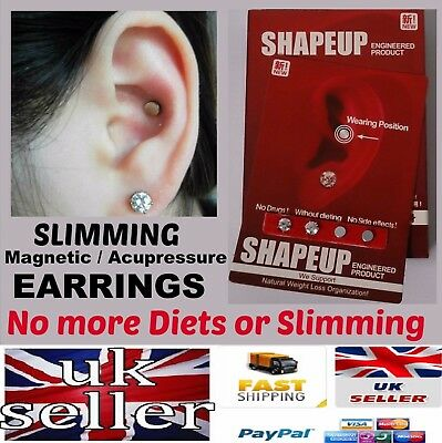 SLIM Magnetic EARRINGS WEIGHT-LOSS / HEALING - NO MORE DIET / SLIMMING PILLS