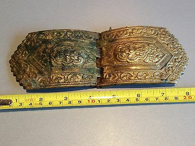 Vintage Ottoman Empire Balkan Peninsula Women's Folk Belt Buckle --Bronze