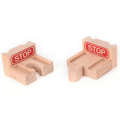 1 Set Wooden Train Stop Track Railway Accessories Compatible All Major Brands CM