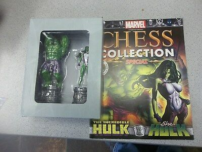 MARVEL CHESS COLLECTION HULK & SHE HULK mINT IN Box