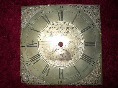 Antique Brass Longcase Clock Face David Phillip Llantrisant Glamorgan Wales 1770