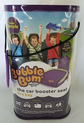 Bubble Bum Portable Car Seat Booster (Purple)