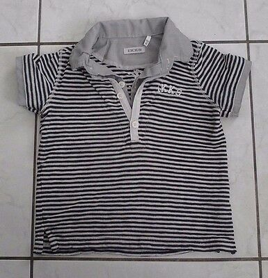 t-shirt polo ikks taille 18 mois