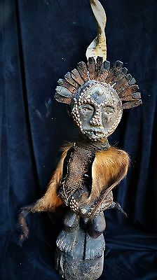 "orig $499-SONGYE FIGURE, METAL TEETH, HORN!! EARLY 1900S REAL 32"" PROV."