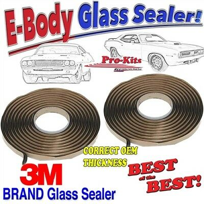 Mopar 70 71 72 73 74 Cuda Challenger Windshield Rear Glass Window Sealer Kit
