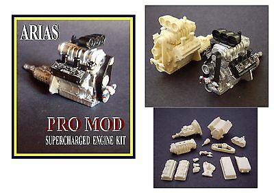 Resin  Arias Pro Mod  V8  Engine Kit  1/24 1/25 Scale