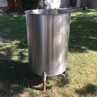 Stainless Steel Mixing Tank 100 Gallon With Drain, Open Top