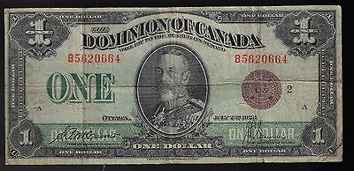 1923 $1 ONE DOLLAR DOMINION OF CANADA BRONZE SEAL DC-25i (RARE)