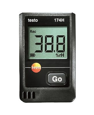 Testo 0572 6560 174H 2-Channel Mini Temperature and Humidity Data Logger with Lo