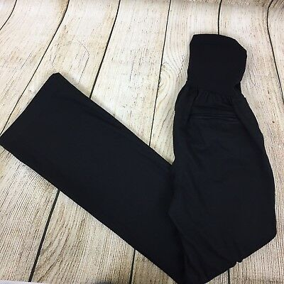 MOTHERHOOD MATERNITY Size XS Black Pants With Full Belly Panel