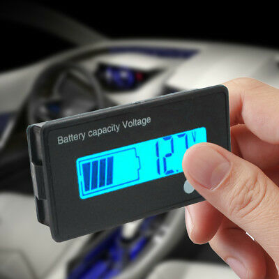 12-48V ACID Lead Battery Capacity Indicator Charge Level LED Tester Voltmeter