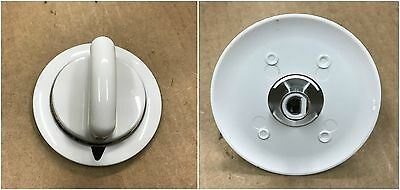 (Metal Piece) White Knob for General Electric Hotpoint GE Dryer # WE1M654