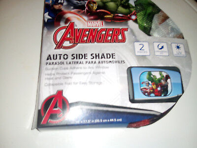 Brand New! Avengers Car Window Shade. Protect Your Infant Or Toddler !!!