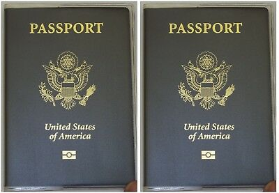 USA Quality Fast Ship 2x Passport Matte Clear Vinyl Cover Protector