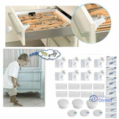 8 Locks 3 Keys Magnetic Baby Child Infant Safety Cupboard Drawer Cabinet Door【AU