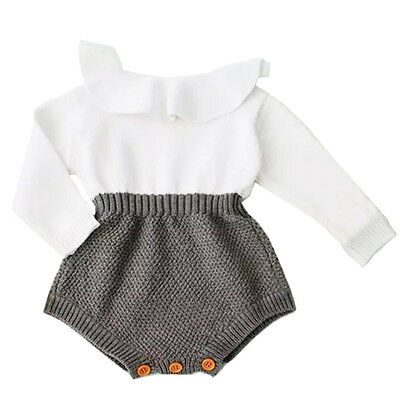 Knit Newborn Kids Baby Girls Wool Warm Romper Shorts One Piece Outfits Clothes