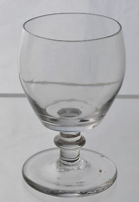 Free Blown Flint Glass Water Glass Goblet 19th Century