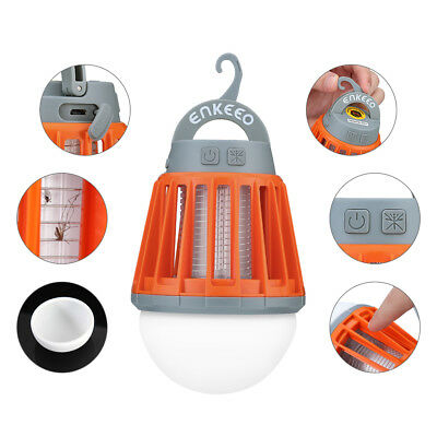 Mosquito Zapper Lantern Bug Fly Insect Killer Garden Outdoor Camping +Battery