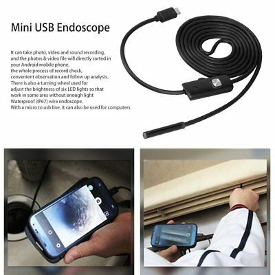 6LED 720P ENDOSCOPIO MINI ispezione fotocamera per Android PC IP67 USB ES