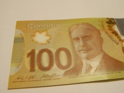 Canada $100 AU-UNC new polymer paper money Bank Note bill